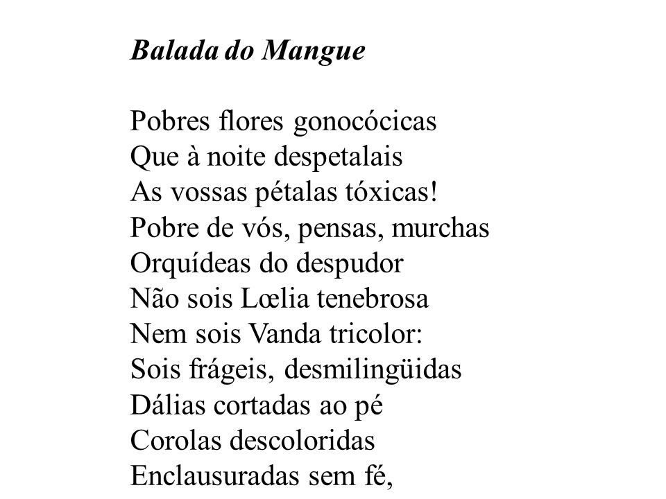 Balada do Mangue