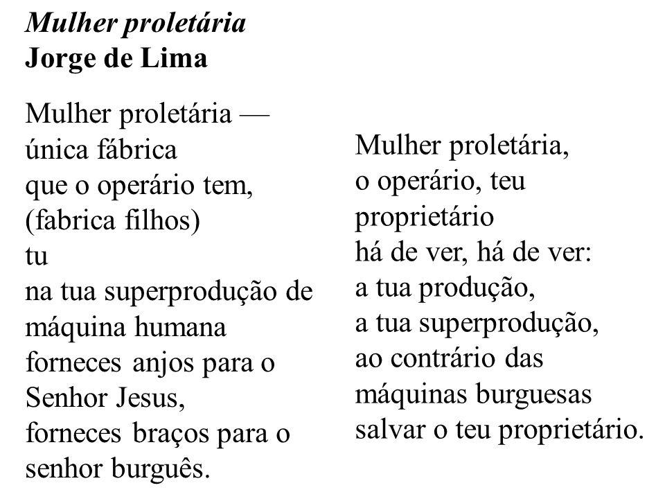 Mulher proletária Jorge de Lima