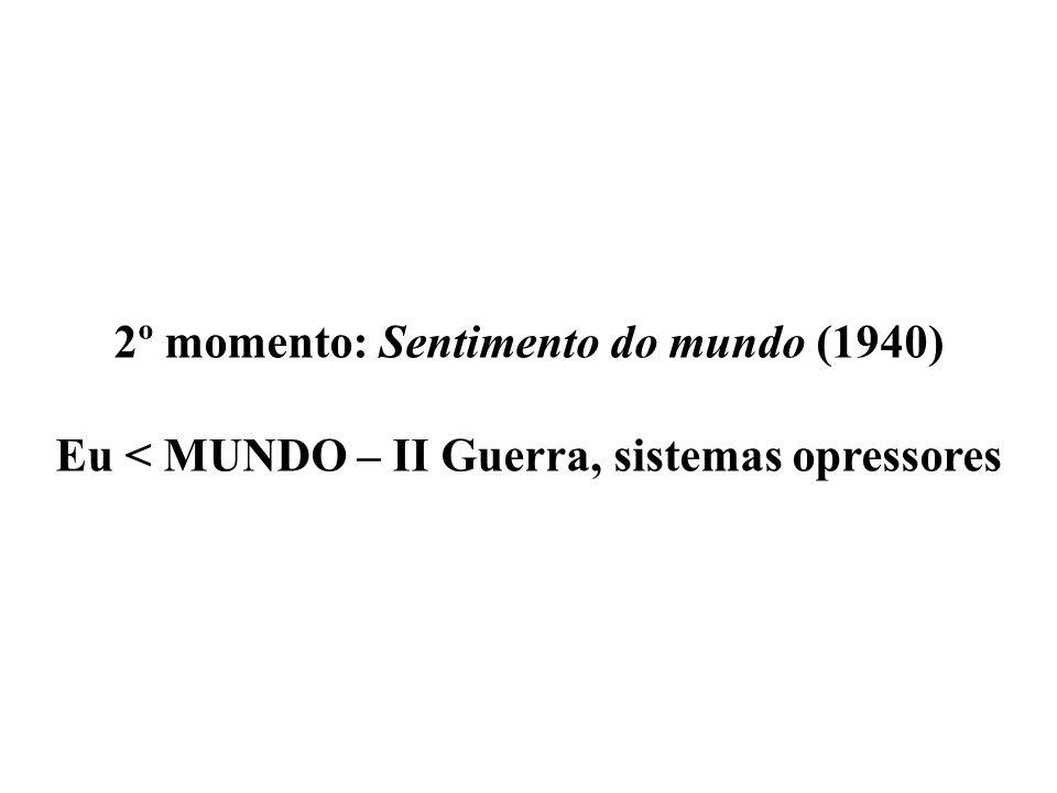 2º momento: Sentimento do mundo (1940)