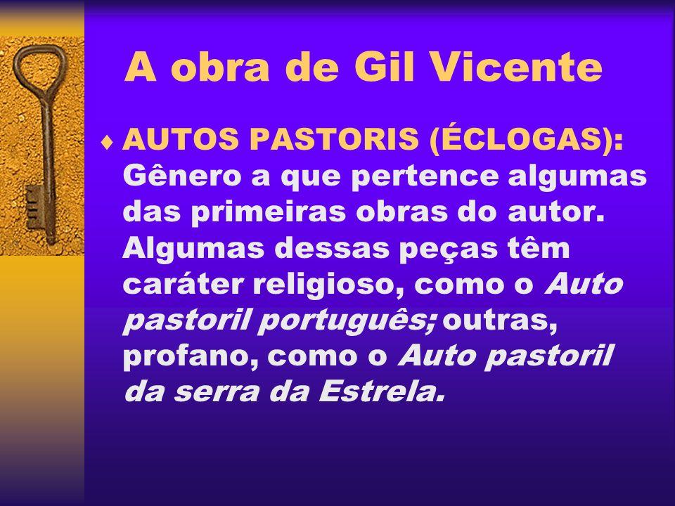 A obra de Gil Vicente