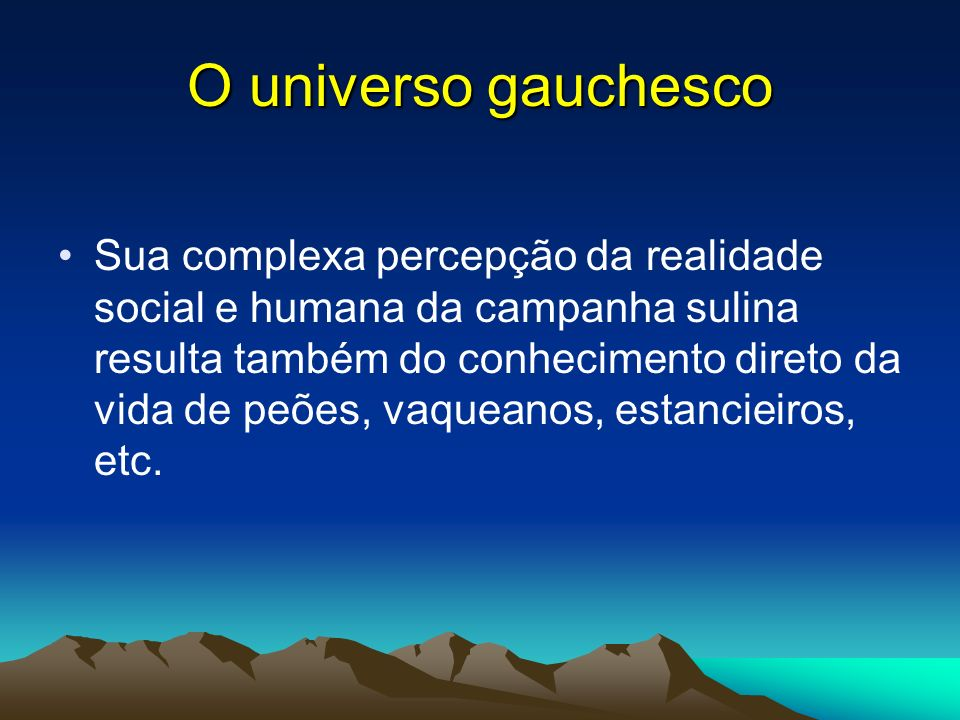 O universo gauchesco