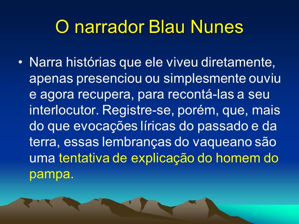 O narrador Blau Nunes
