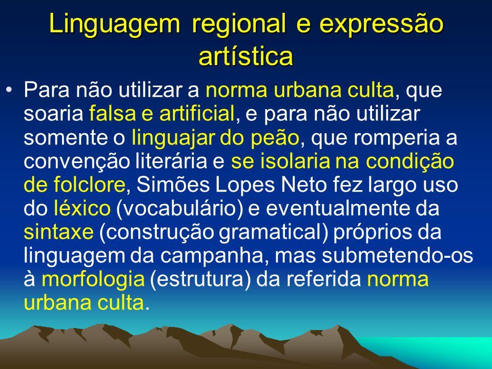 Linguagem regional e expressão artística