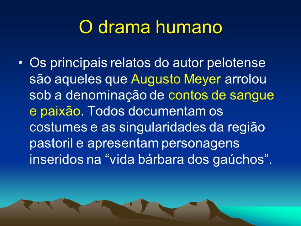 O drama humano