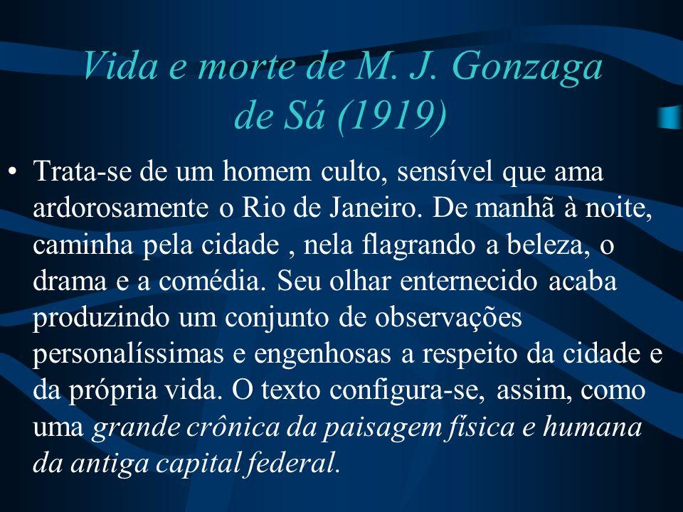 Vida e morte de M. J. Gonzaga de Sá (1919)