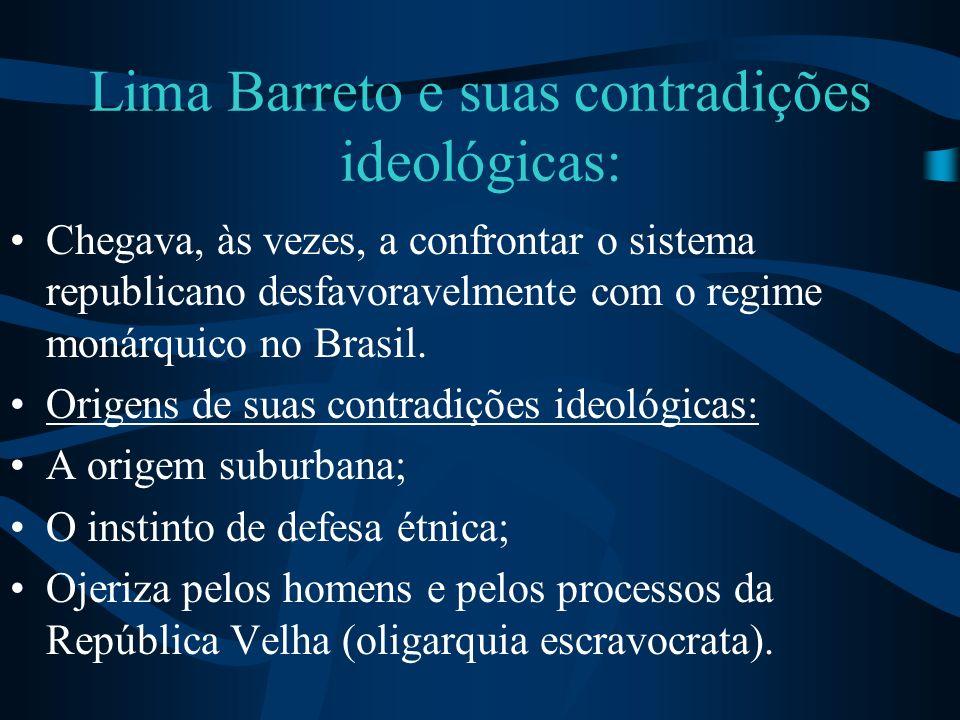 Lima Barreto e suas contradições ideológicas: