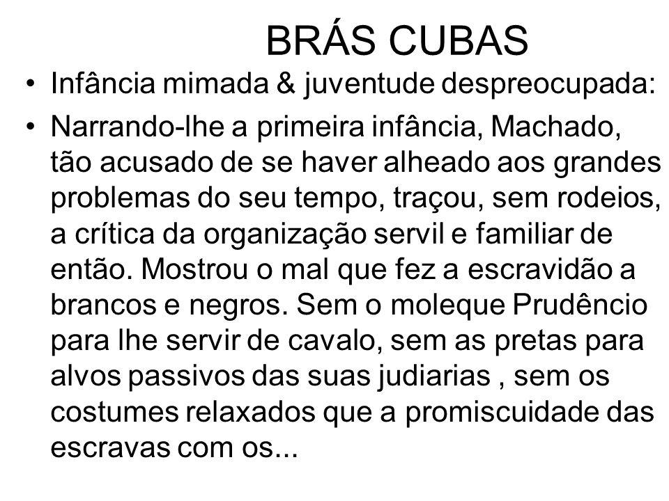 BRÁS CUBAS Infância mimada & juventude despreocupada: