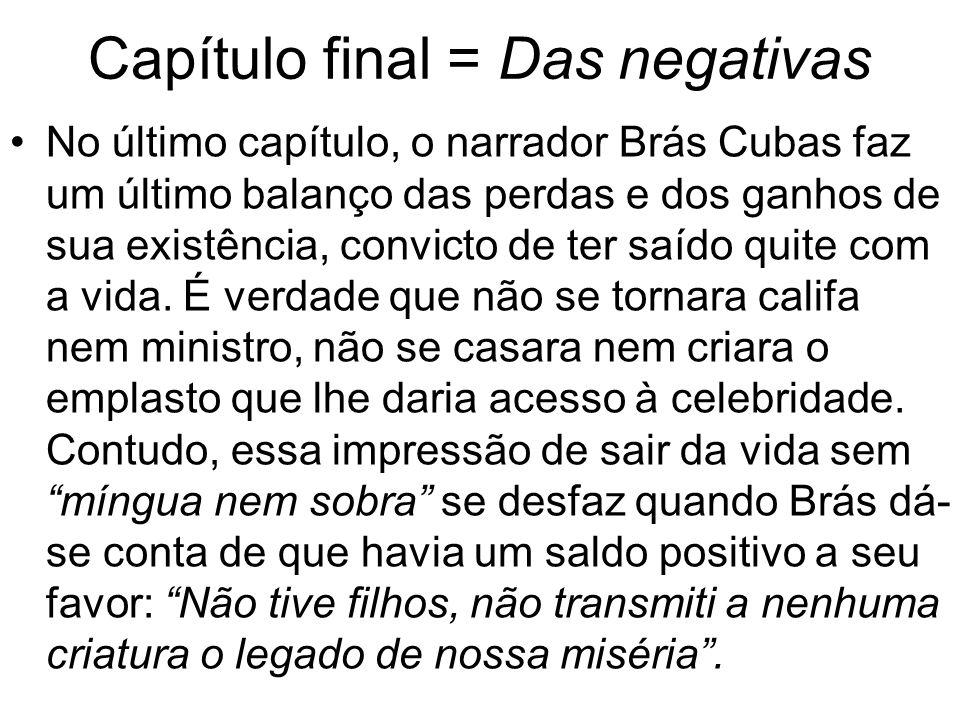 Capítulo final = Das negativas