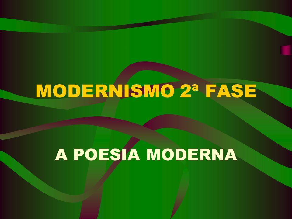 MODERNISMO 2ª FASE A POESIA MODERNA