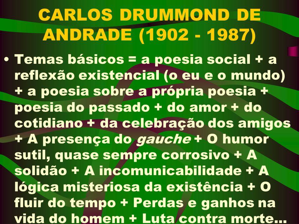 CARLOS DRUMMOND DE ANDRADE (1902 - 1987)