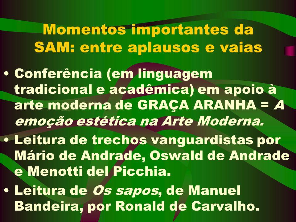 Momentos importantes da SAM: entre aplausos e vaias