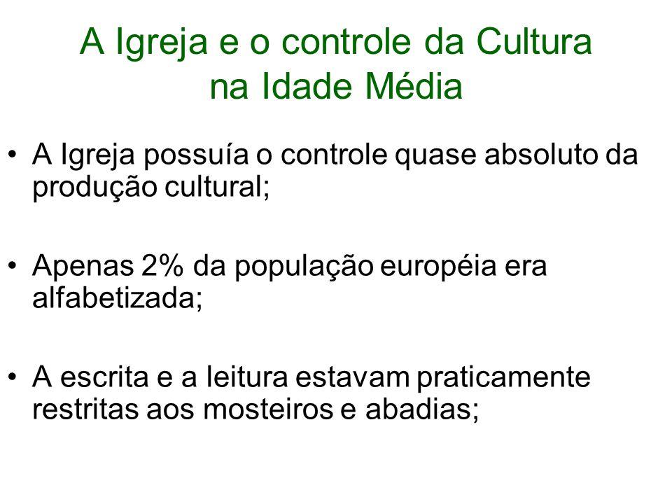 A Igreja e o controle da Cultura na Idade Média