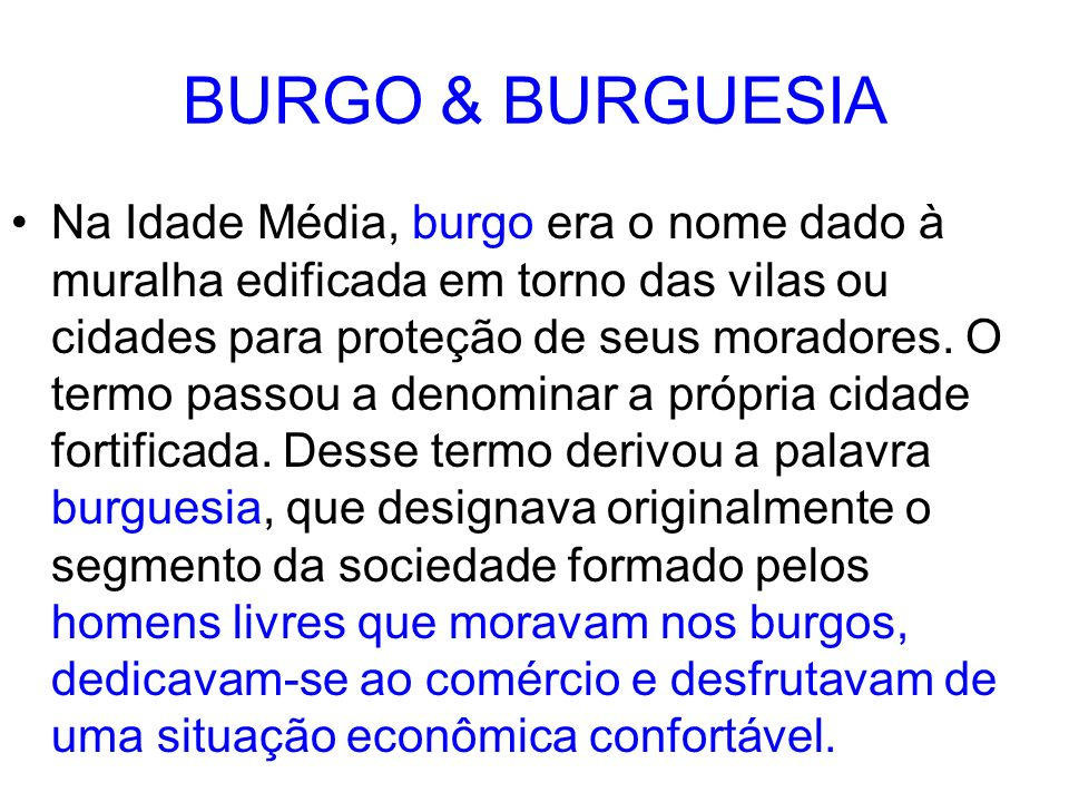 BURGO & BURGUESIA