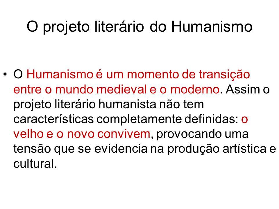 O projeto literário do Humanismo
