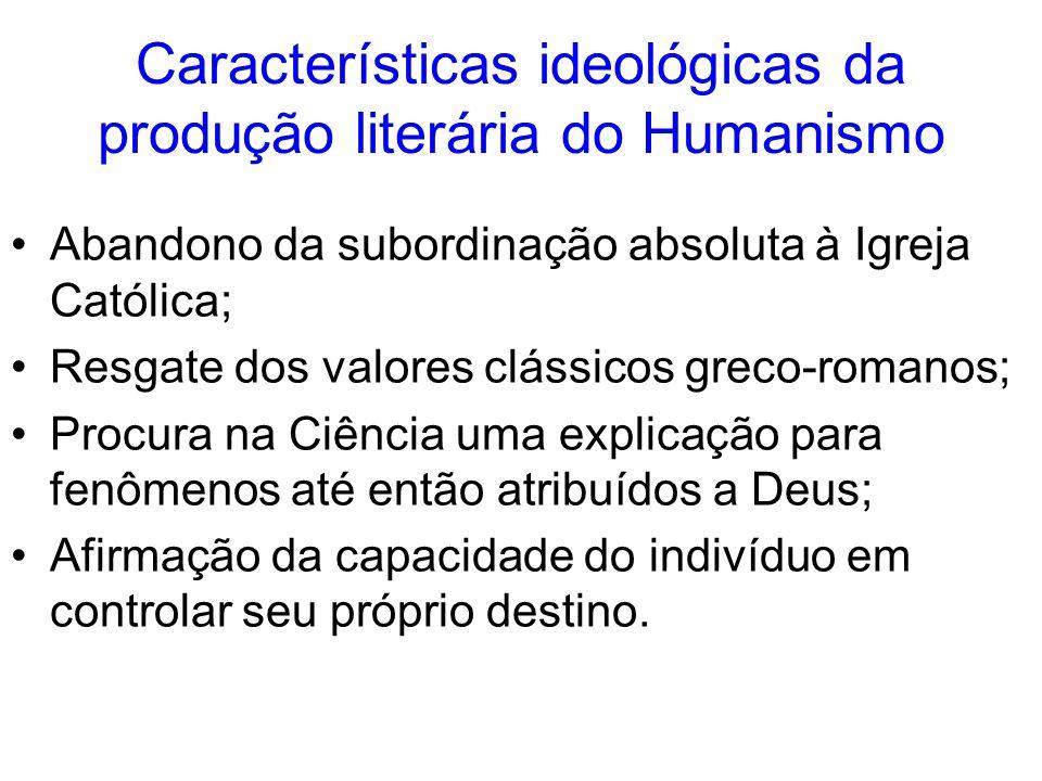 Características ideológicas da produção literária do Humanismo