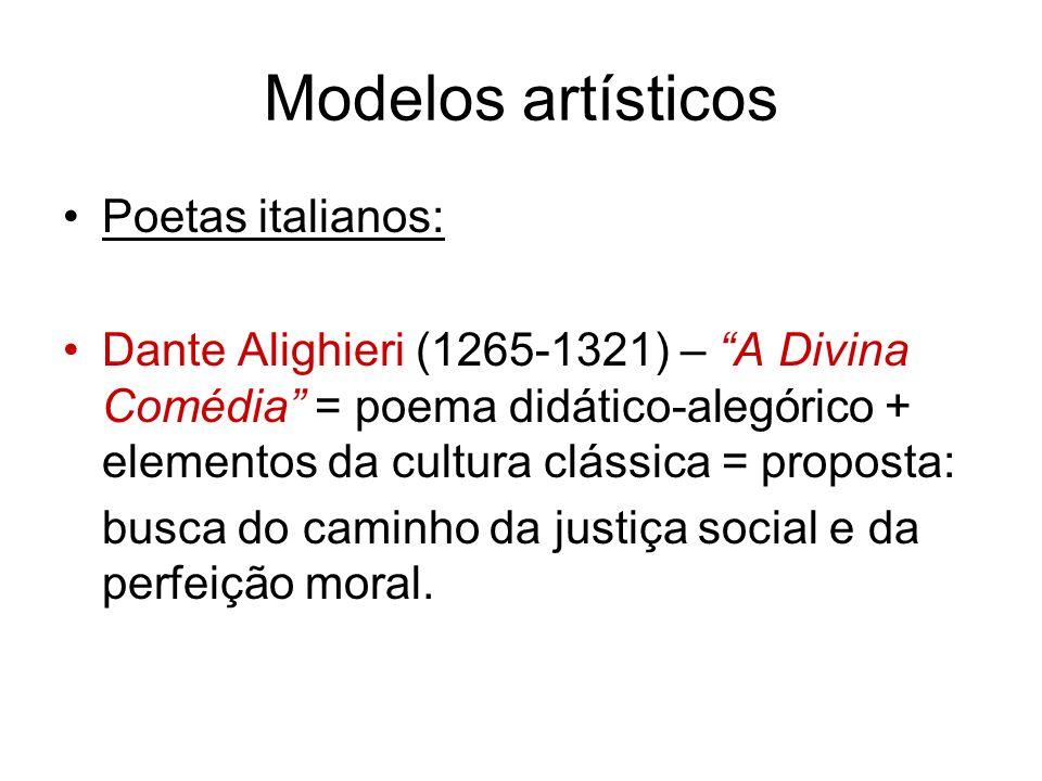 Modelos artísticos Poetas italianos: