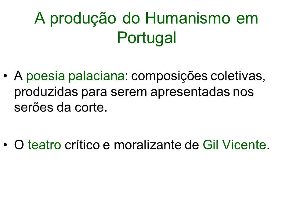 A produção do Humanismo em Portugal