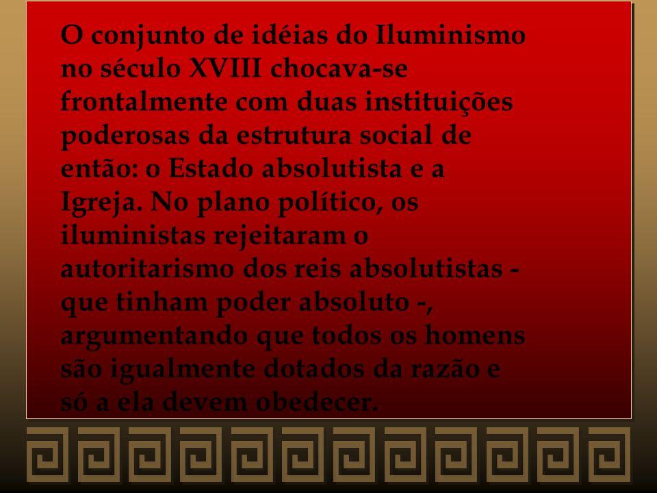 O conjunto de idéias do Iluminismo