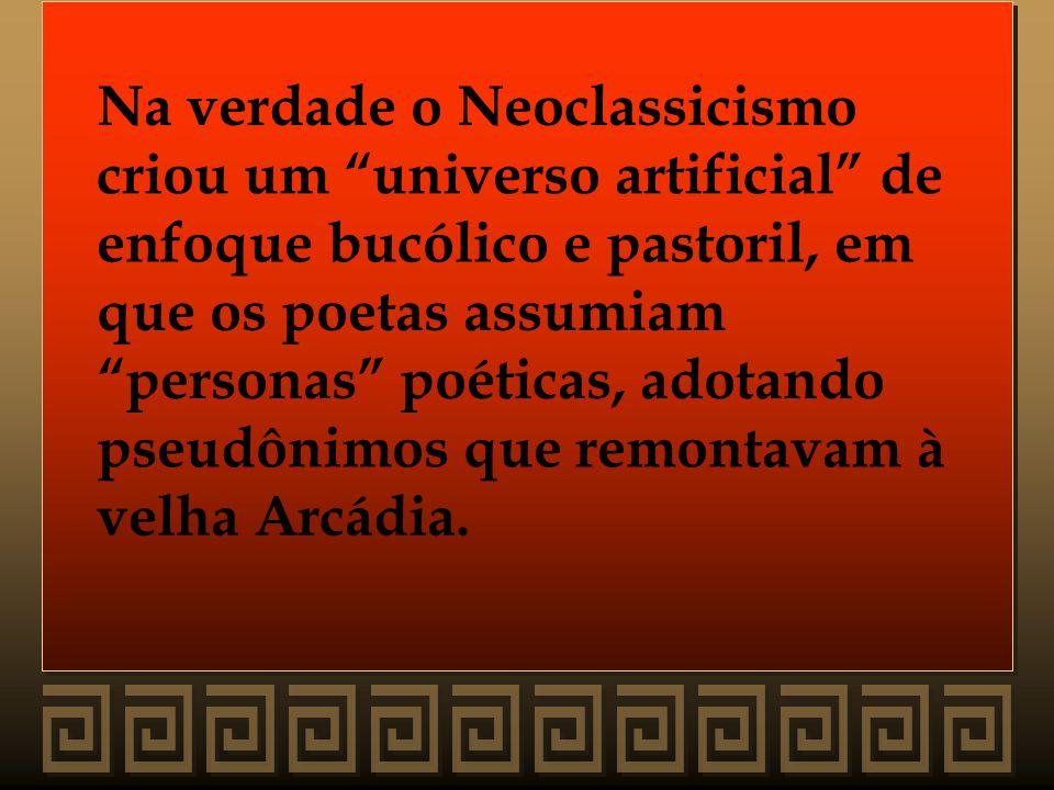 Na verdade o Neoclassicismo