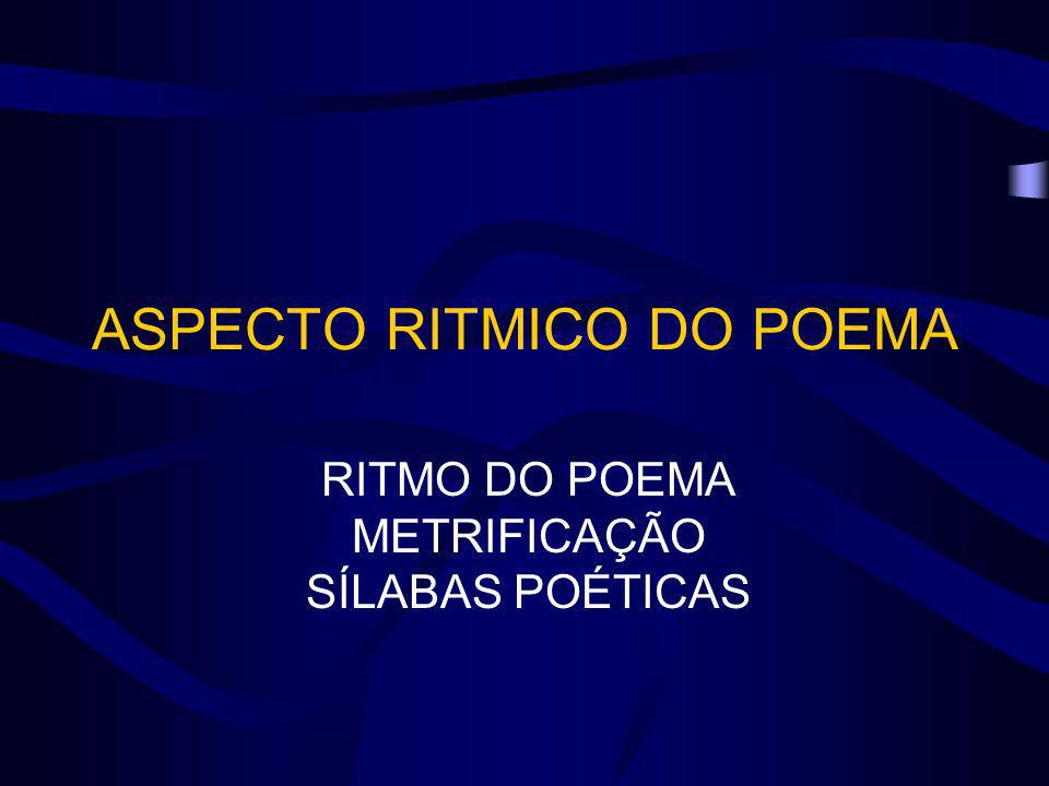 ASPECTO RITMICO DO POEMA