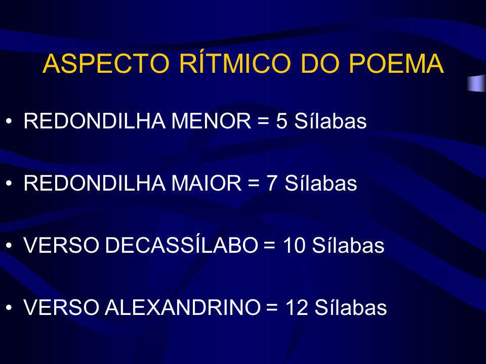ASPECTO RÍTMICO DO POEMA
