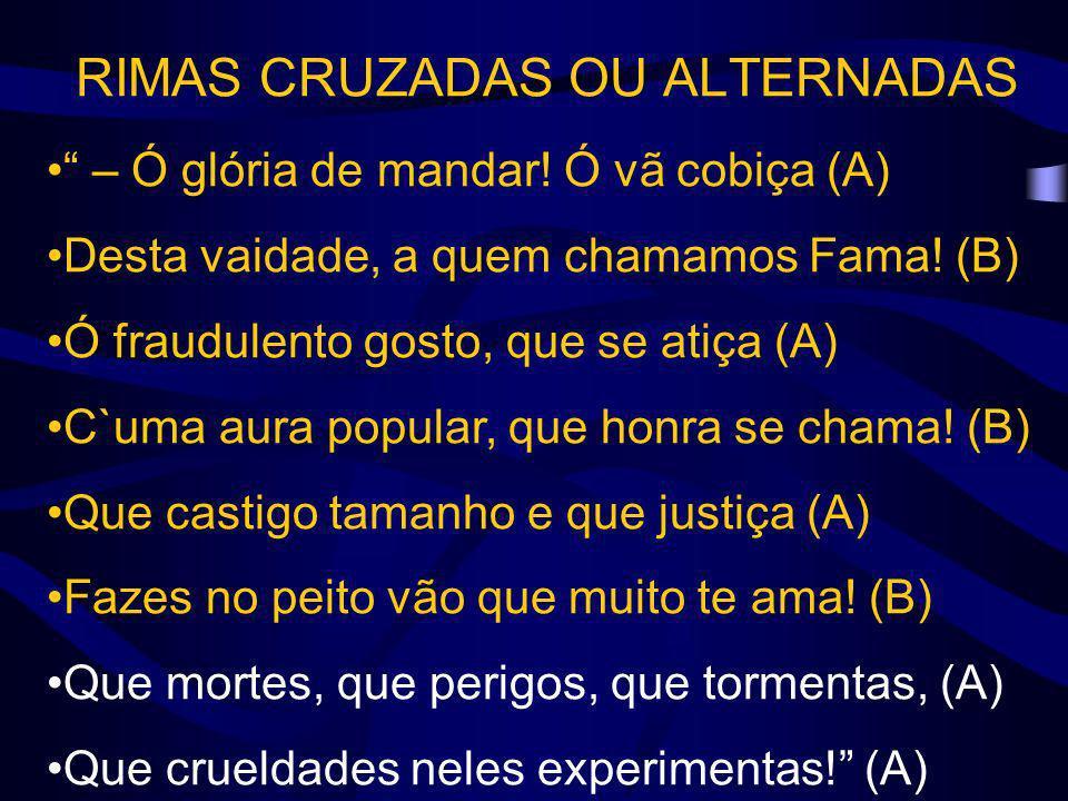RIMAS CRUZADAS OU ALTERNADAS