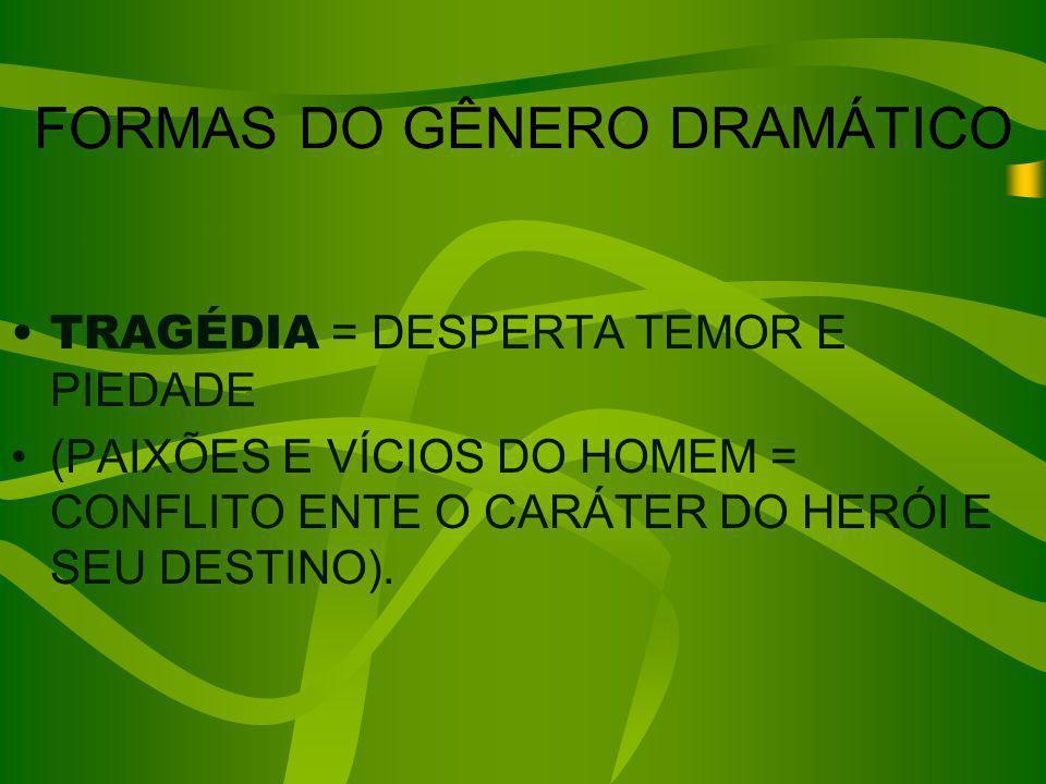 FORMAS DO GÊNERO DRAMÁTICO