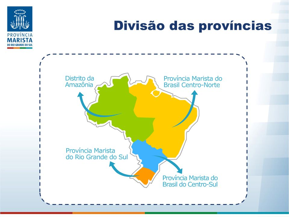 Divisão das províncias