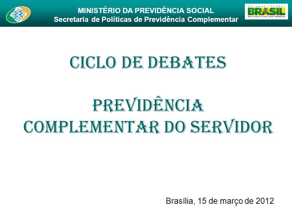 Ciclo de Debates Previdência Complementar do Servidor