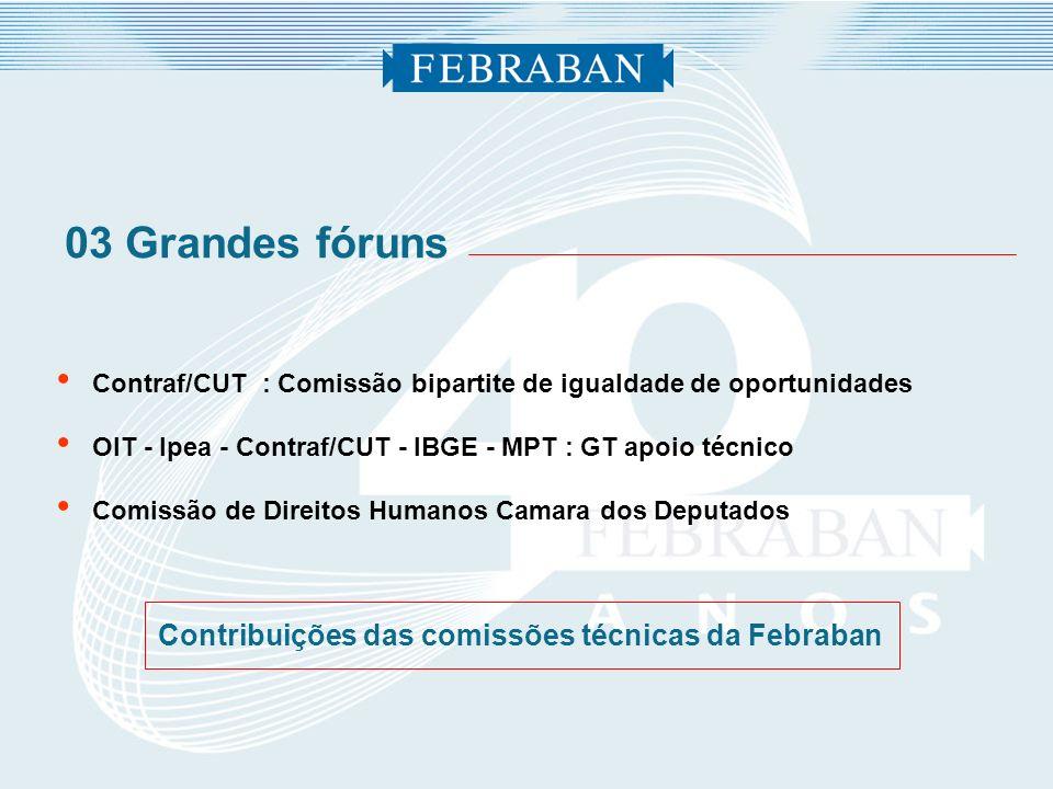 Contribuições das comissões técnicas da Febraban