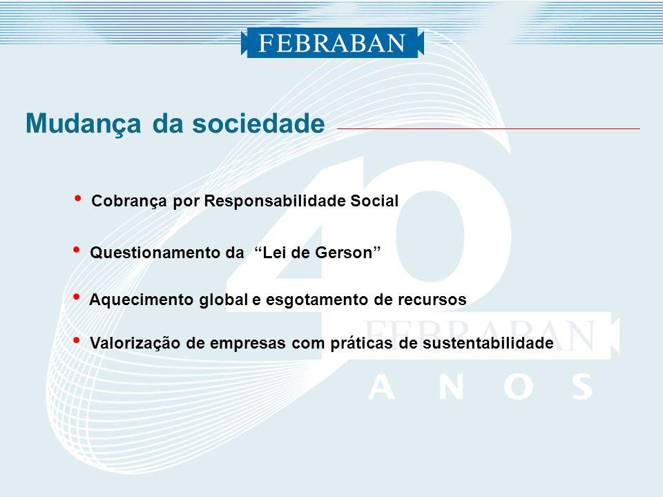 Mudança da sociedade Cobrança por Responsabilidade Social