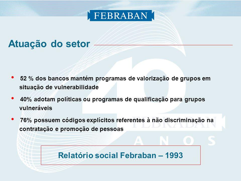 Relatório social Febraban – 1993
