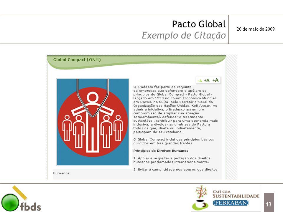 Pacto Global Exemplo de Citação