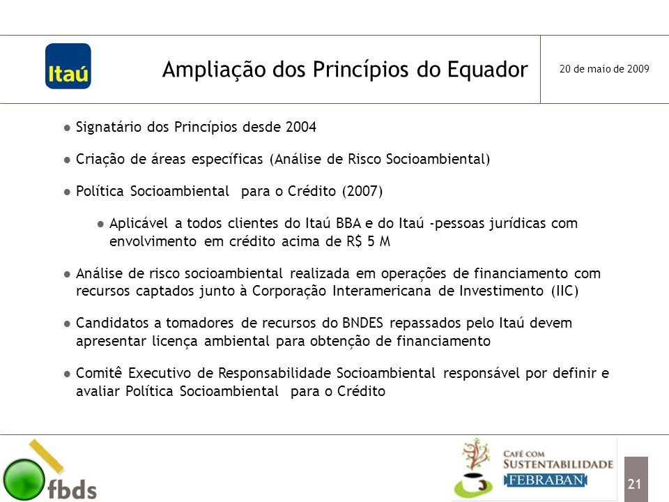 Ampliação dos Princípios do Equador