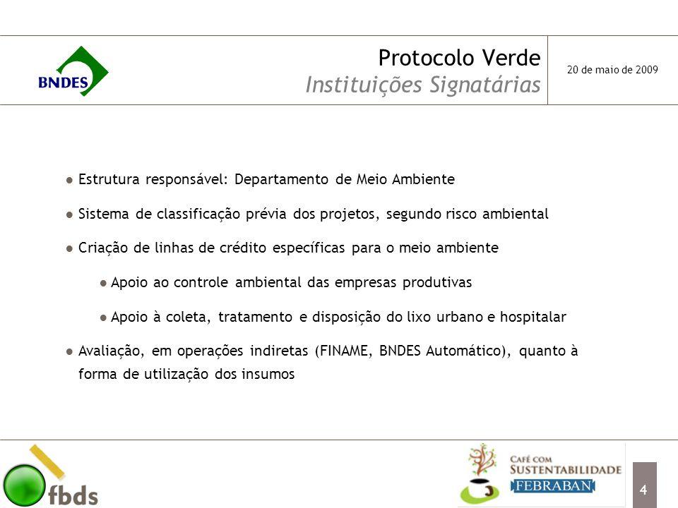 Protocolo Verde Instituições Signatárias