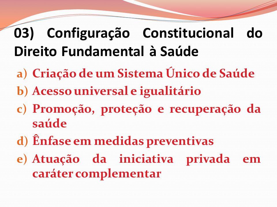 03) Configuração Constitucional do Direito Fundamental à Saúde