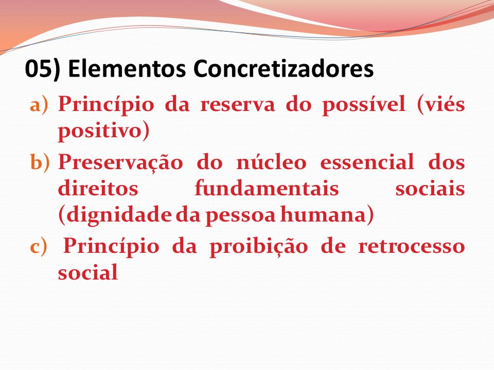 05) Elementos Concretizadores