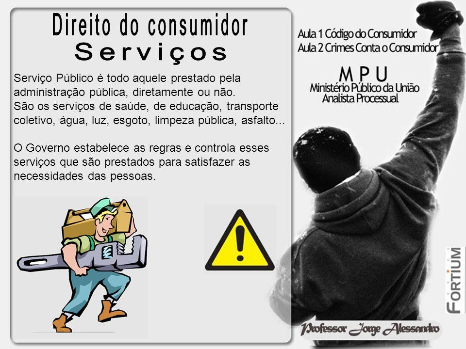 Direito do consumidor Serviços