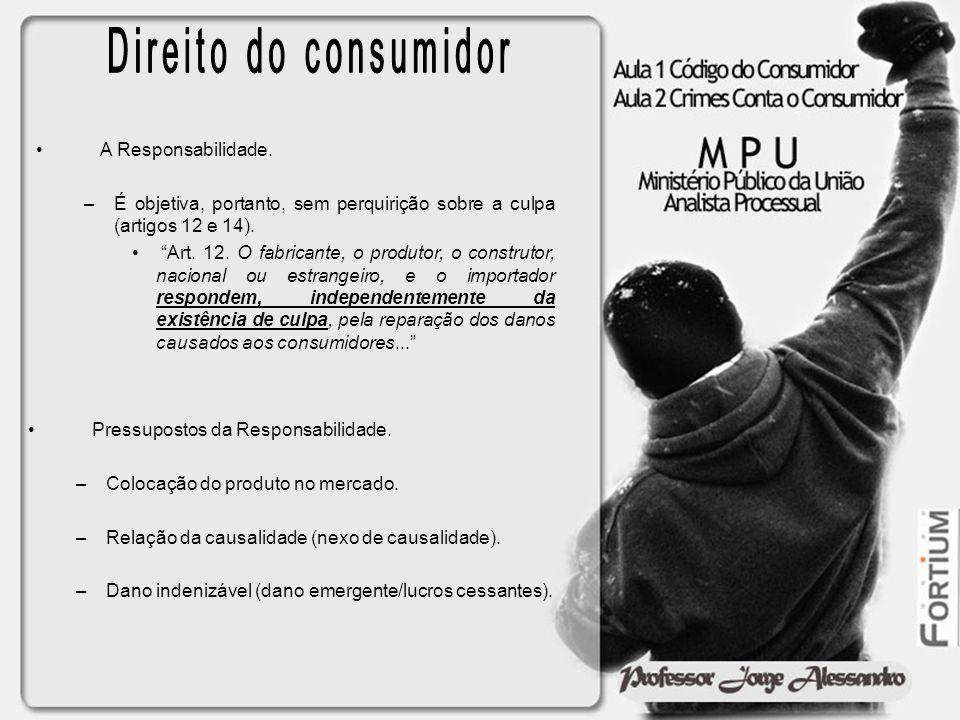 Direito do consumidor A Responsabilidade.