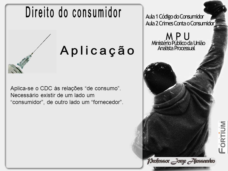 Direito do consumidor Aplicação
