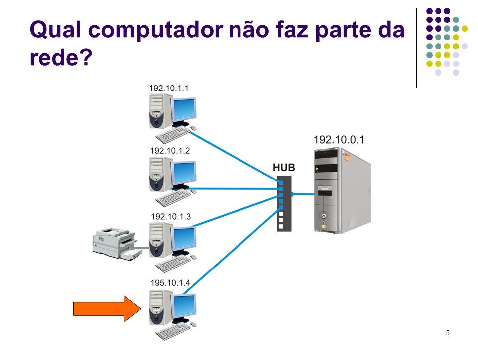 Qual computador não faz parte da rede