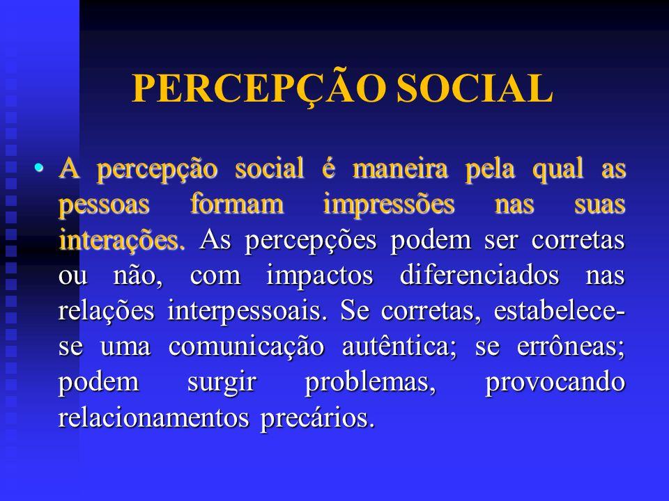 PERCEPÇÃO SOCIAL