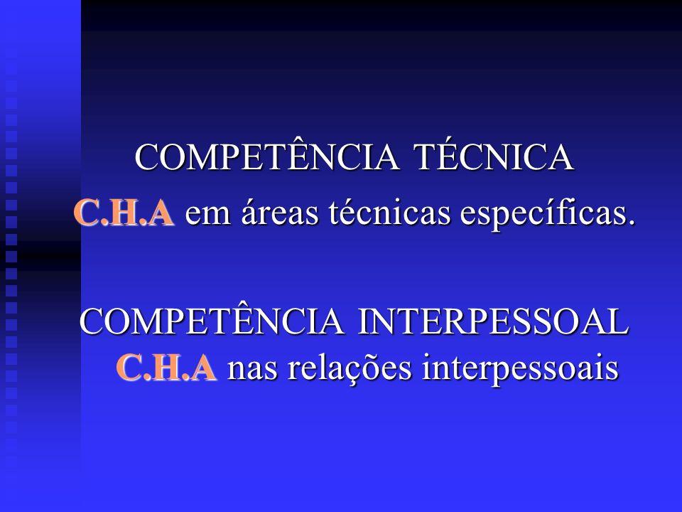 C.H.A em áreas técnicas específicas.