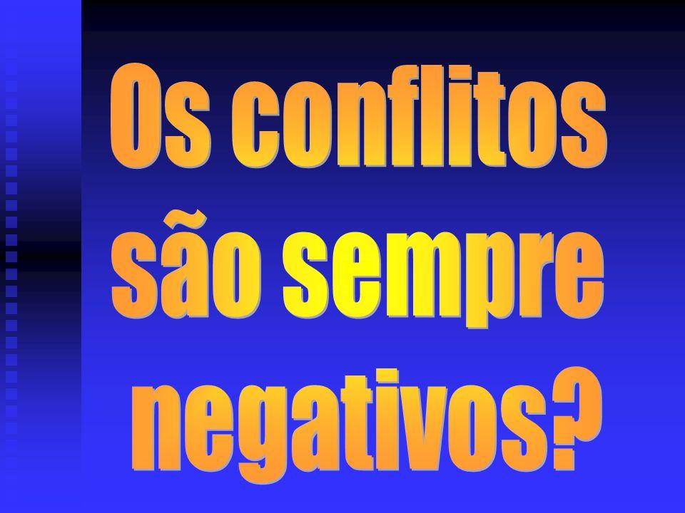 Os conflitos são sempre negativos