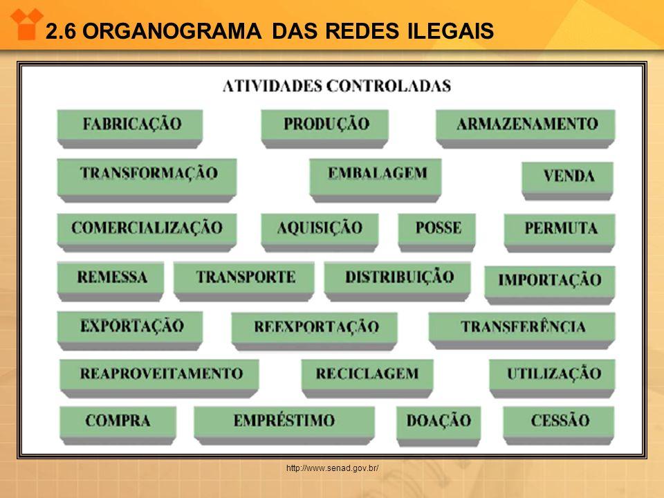 2.6 ORGANOGRAMA DAS REDES ILEGAIS