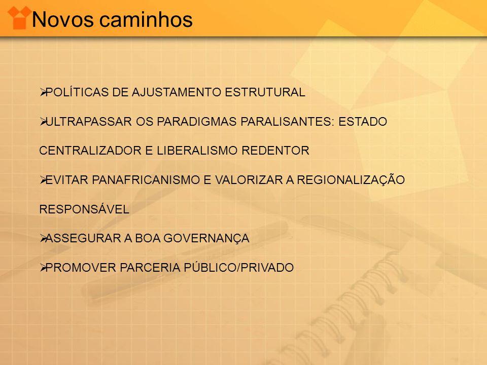 Novos caminhos POLÍTICAS DE AJUSTAMENTO ESTRUTURAL
