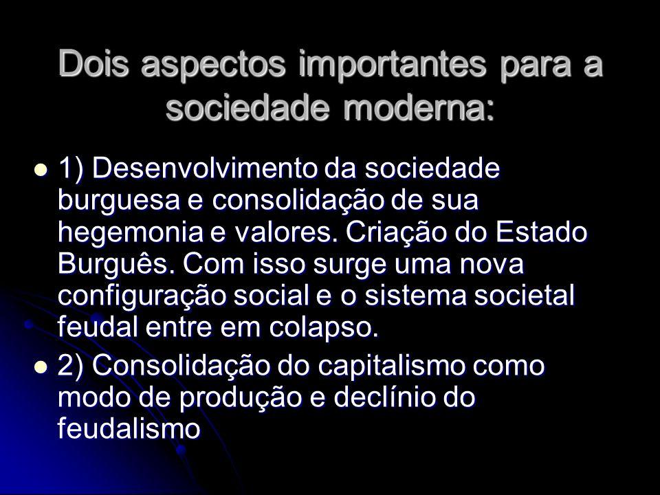 Dois aspectos importantes para a sociedade moderna: