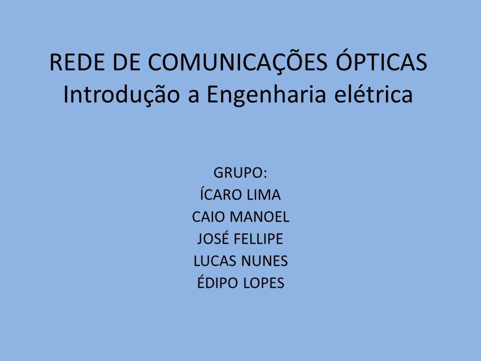 REDE DE COMUNICAÇÕES ÓPTICAS Introdução a Engenharia elétrica