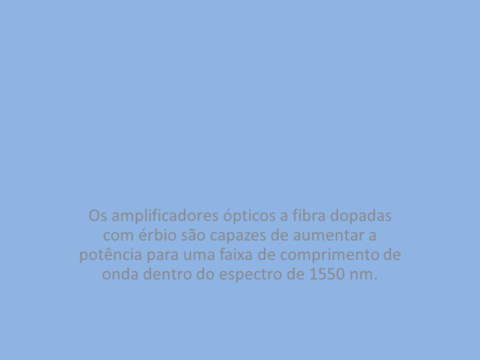Os amplificadores ópticos a fibra dopadas com érbio são capazes de aumentar a potência para uma faixa de comprimento de onda dentro do espectro de 1550 nm.