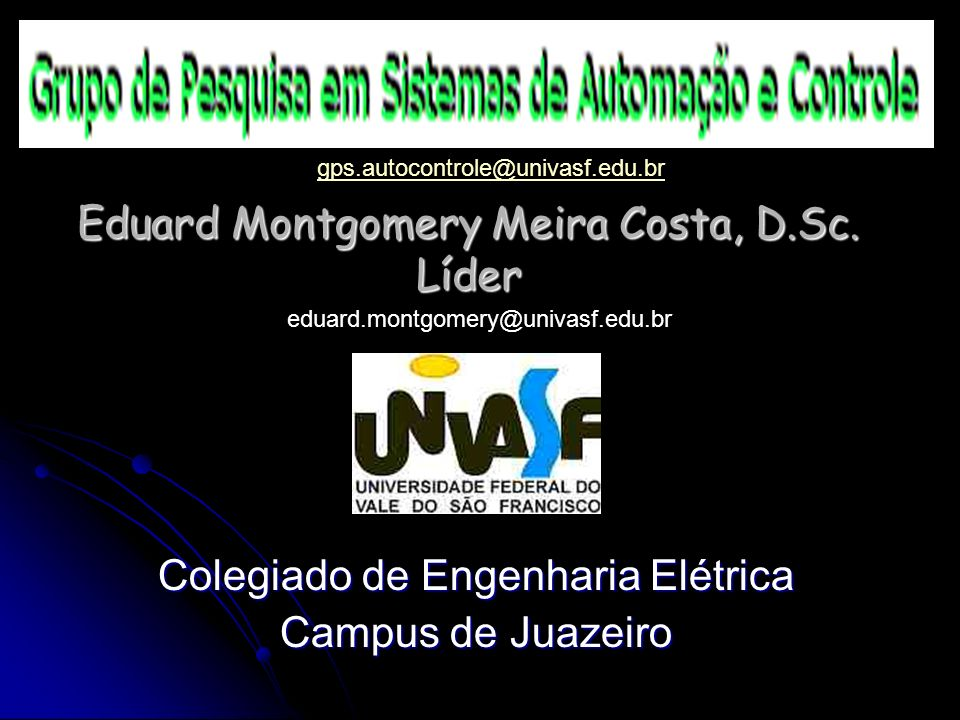 Eduard Montgomery Meira Costa, D.Sc. Líder